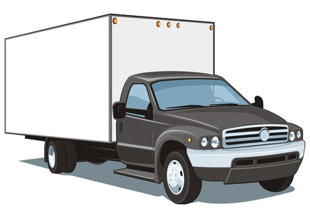 trucking: Vector isolated commercial truck Illustration