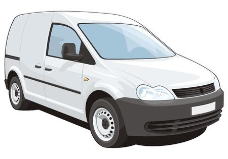 car carrier:   delivery van Illustration