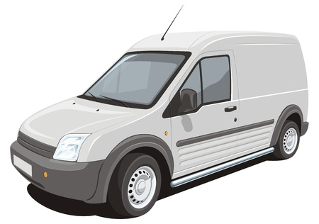 car carrier:  delivery van