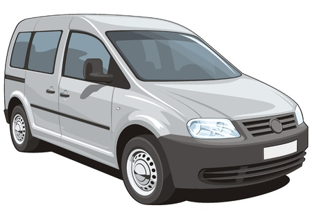 Vector isolated minivan cargo and passenger Vector