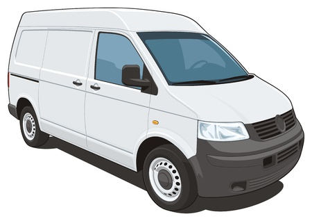 delivery van: Vector isolated delivery van Illustration