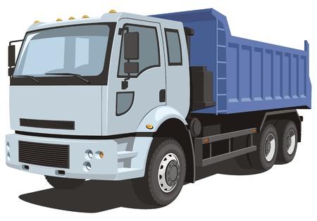 volteo: Vector aislado camión de volteo Vectores
