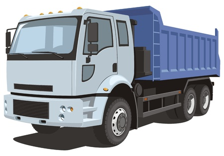 camion volteo: Vector aislado cami�n de volteo Vectores