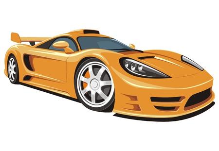 course de voiture: Vecteur isol� voiture de sport