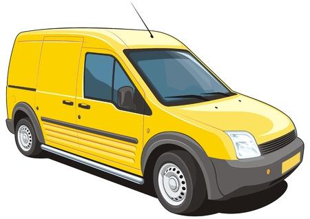 gele bestelwagen