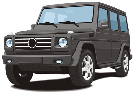 offroad: Vector isolated black off-road vehicle