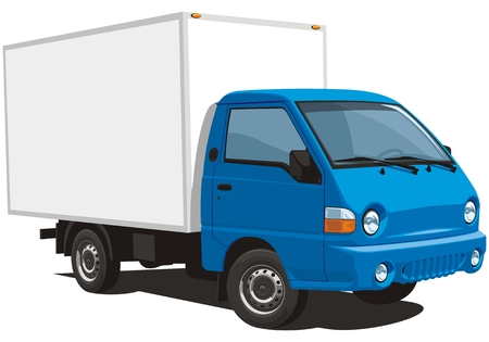 trucking: Vector isolated delivery truck