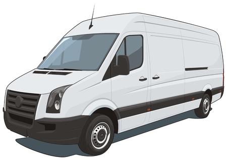 Vector aislados camioneta comercial