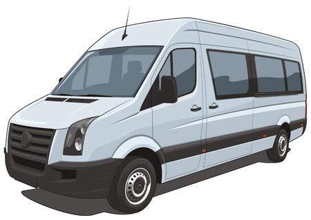 minivan: Vector isolated van Illustration