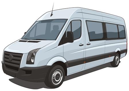 minibus: Vector isolated van Illustration