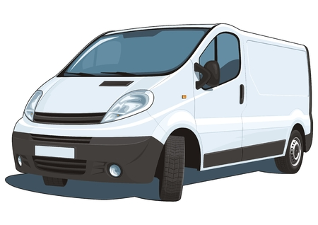 Vector isolated commercial van