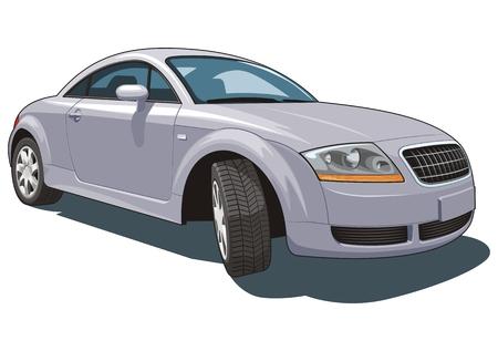 speedster: Vector isolated modern car Illustration
