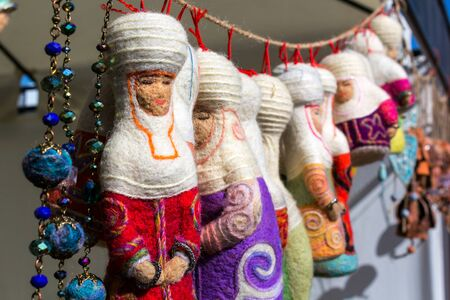 kazakh: Kazakh felt decorations in the form of dolls