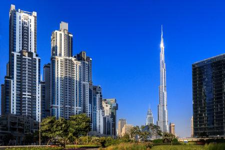 Cityscape of modern Dubai Editorial