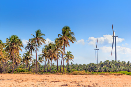 wind turbines in the jungles of Sri Lanka. Alternative Renewable Energy Sources