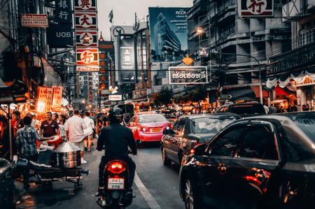 Bangkok city street 에디토리얼