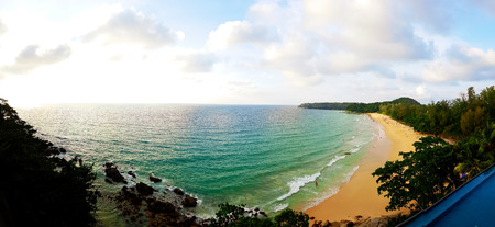 Panorama of tropical beach. 写真素材