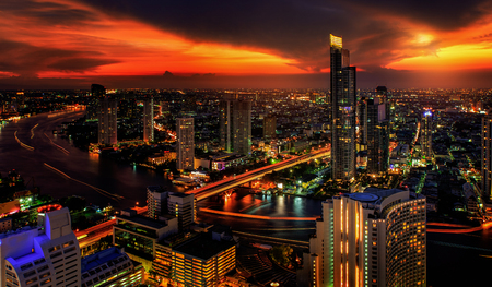 Bangkok at late evening