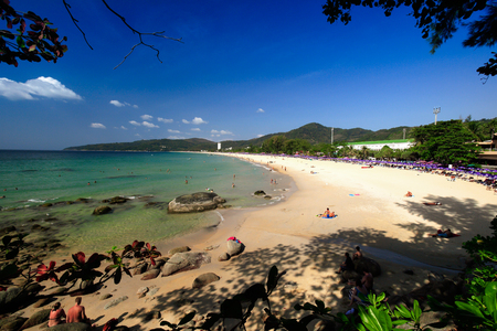 The beach in Phuket city. Thailand