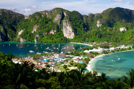 Thailand, Phi Phi island view from top