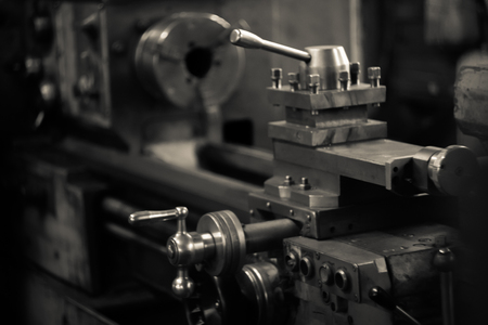 Lathe. It can be used to adjust the cutting tools. 写真素材