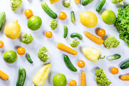 Set of vegetables on table