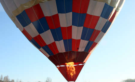 gas burner: the gas burner flame under the air balloon before the start