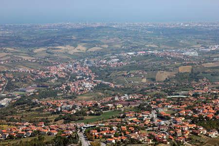 surroundings: beautiful landscape view of the surroundings of San-Marino