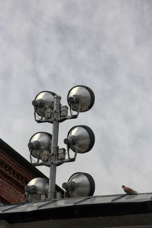 special spotlight for architectural lighting of buildings on roof