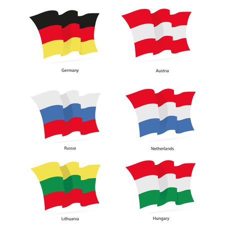 patriots: Flags Germany, Austria, Russia, Netherlands, Lithuania, Hungary wavin