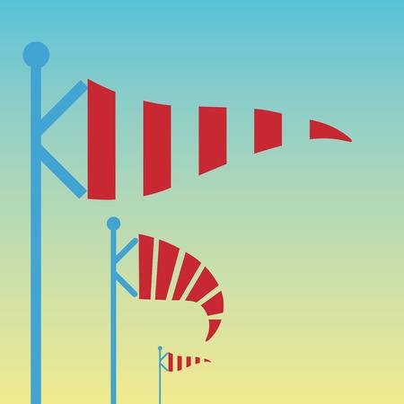 wiatrowskaz: Wiatrowskaz, wiatrowskaz w wektorze Ilustracja