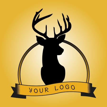 venado: Logotipo del inconformista con la cabeza de venado Vectores