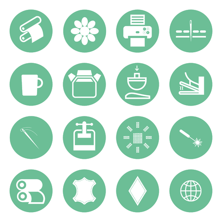 cons: cons types of printing, printing icon Illustration