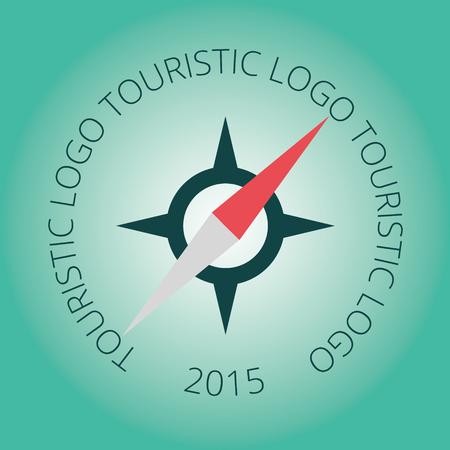 logotype: Tourism logotype, stamp, compass