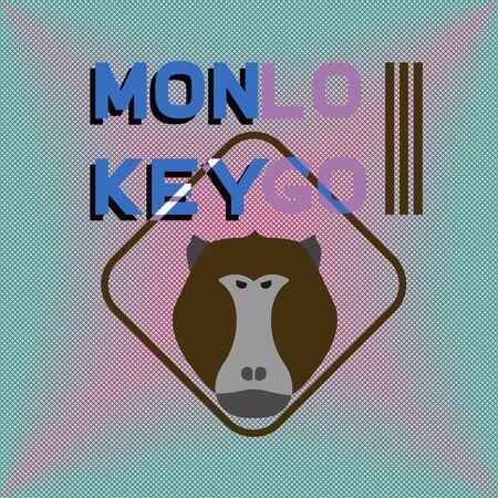 mandril: Logotipo con cabeza de mono. Babuino. Logotipo agresivo. Vectores