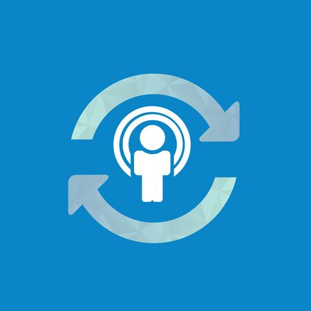 synchronizing: Synchronize user icon, update icon with man in the center.