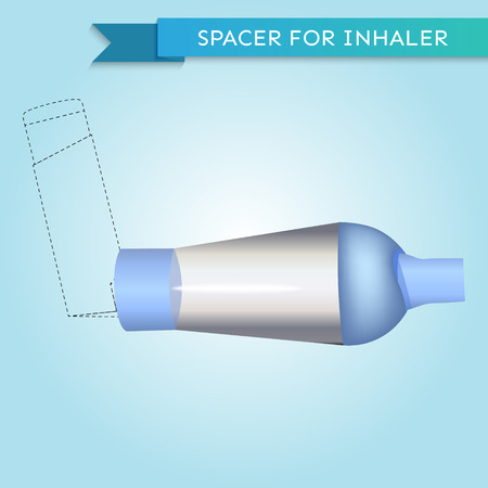 inhaler: Spacer for inhaler in vector Illustration