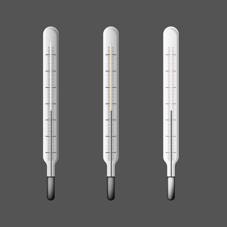 coldness: Set of three thermometers in vector