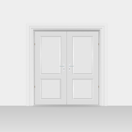 bivalve: Interior doors hinged bivalve, swings door