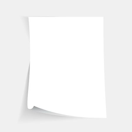Empty folded paper sheet Illustration