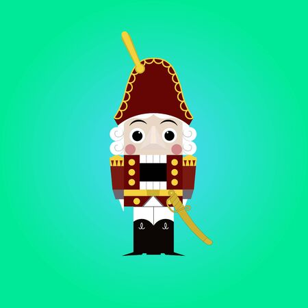 nutcracker: Christmas nutcracker - soldier figurine icon.