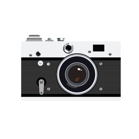 old photo: Old photo camera vector for logotype or icon