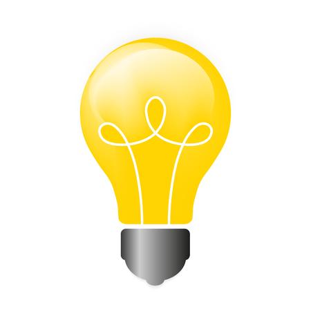 scriibble: Lightbulb. Isolated icon pictogram. Illustration