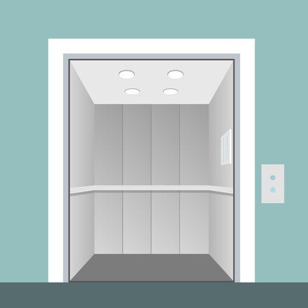 lift gate: Elevator with opened door in vector