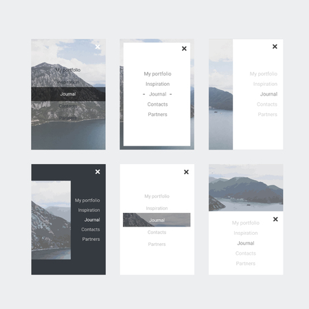 Minimalistic hipster UI Kit for designing responsive websites, mobile apps & user interface. Mountain background.