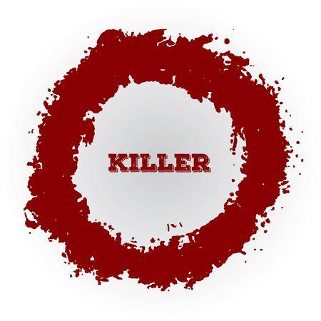shrapnel: Shotgun hole, bullet red hole, blood splatters
