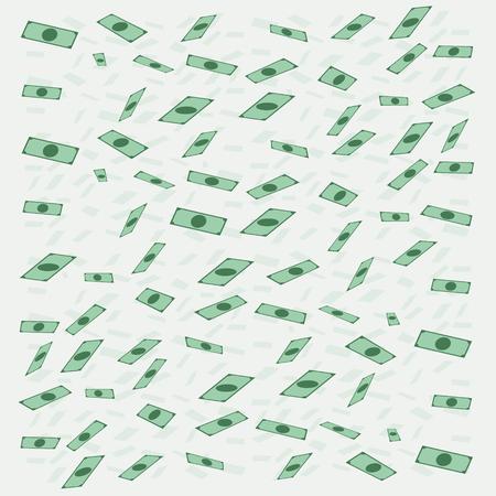 money flying: Dinero de billetes de volar o caer en el estilo plano