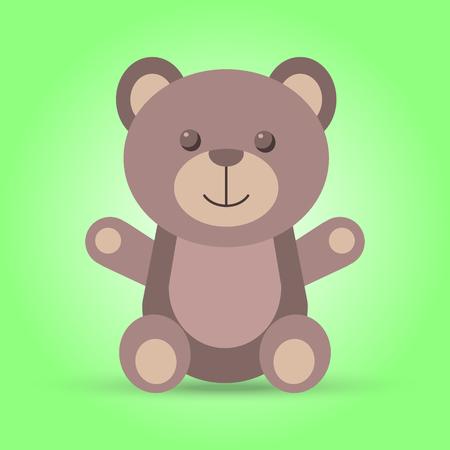 cartooning: Happy brown teddy bear in vector Illustration
