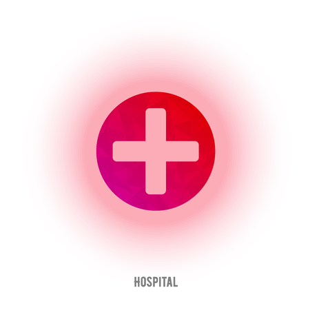 medical cross: First aid red cross sign. Medical cross Illustration