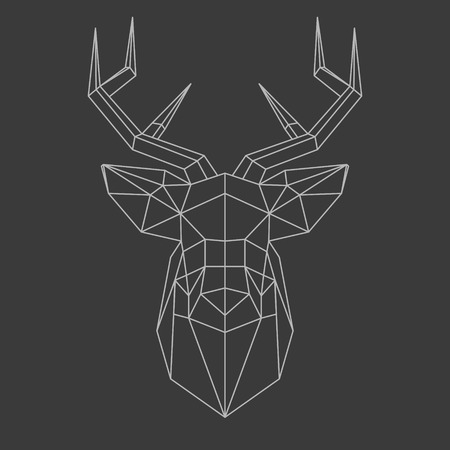 poligonos: cabecera poligonal de ciervos